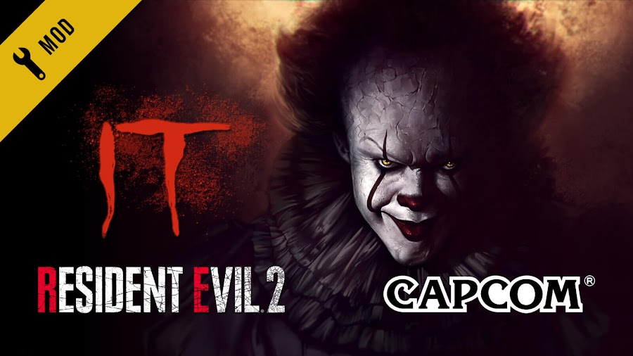 resident evil 2 remake pennywise clown skin it mod capcom