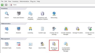 VMware Profile Driven Storage Configuration