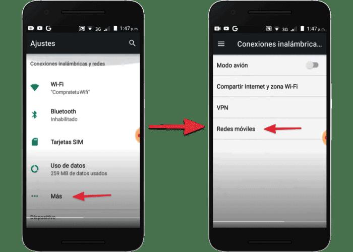 Configuraciones del celular