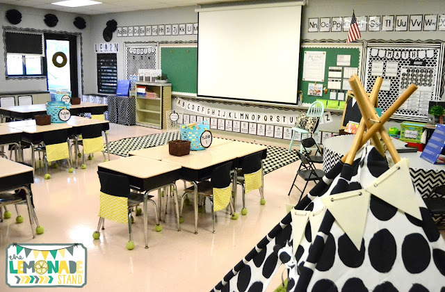 Classroom Decorating Fixer Upper Style ~ Farmhouse classroom reveal the lemonade stand