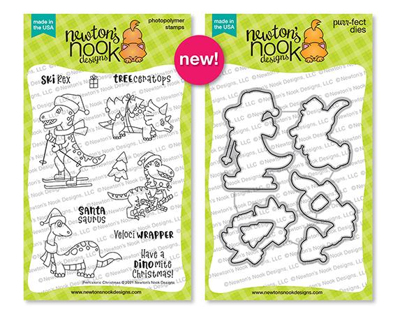Prehistoric Christmas | Dinosaur Stamp and Die Set by Newton's Nook Designs