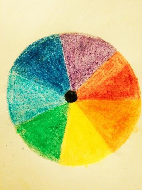 Illustration of Circular ROYGBIV into white background