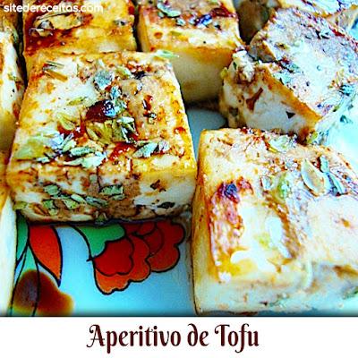 Aperitivo de tofu
