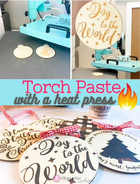 silhouette 101, silhouette america blog, torch paste, heat press, wood signs