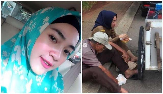 Viral!! Rima Nurlita, Guru Honorer Cantik yang Gemar Beri Makanan Mewah ke Orang Tak Mampu