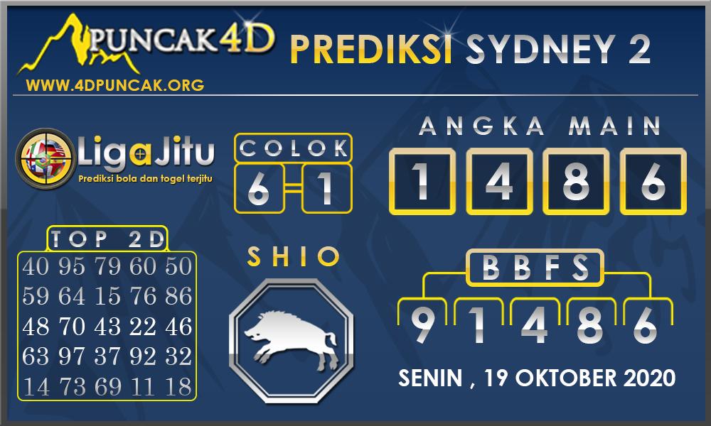 PREDIKSI TOGEL SYDNEY2 PUNCAK4D 19 OKTOBER 2020