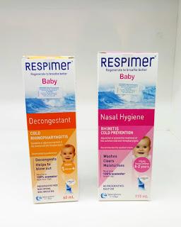 dua varian respimer baby untuk hidung tersumbat