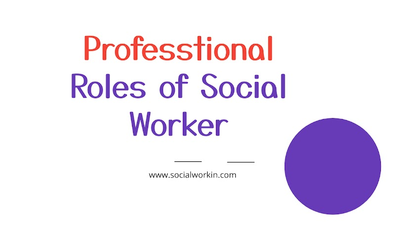 Professional roles of social case worker