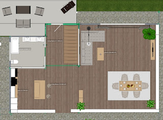single floor house plan with house elevation design