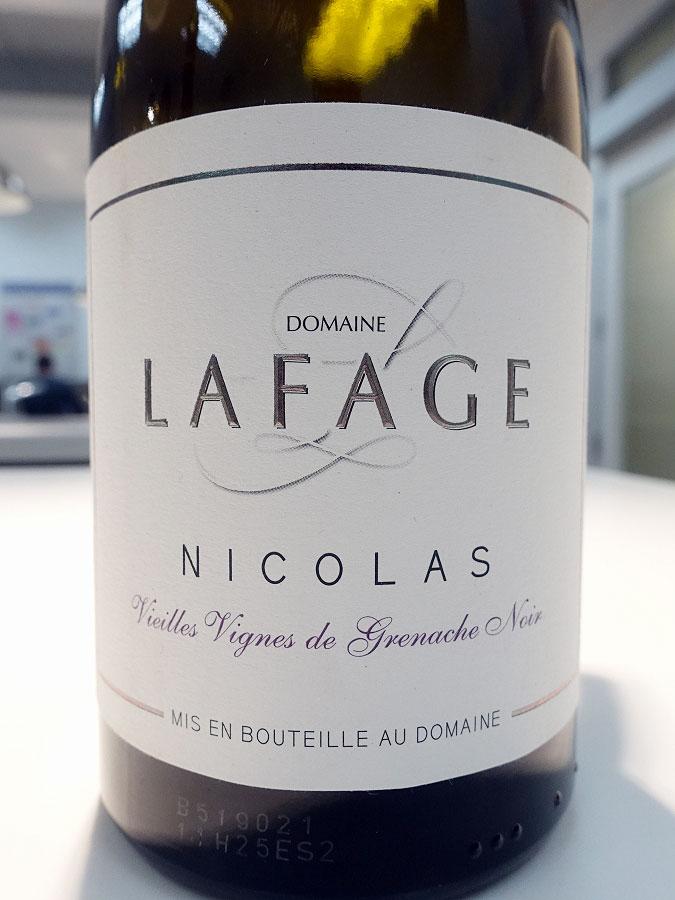 Domaine Lafage Cuvée Nicolas Vieilles Vignes Grenache Noir 2017 (89 pts)