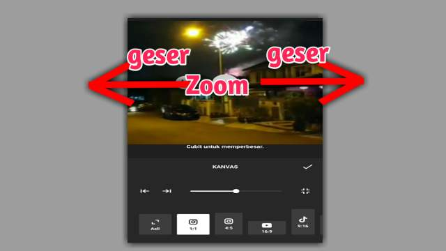 cara zoom video di inshot