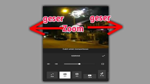 cara zoom video di inshot