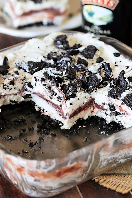 Creamy Layers of No-Bake Baileys Cookies & Cream Yum Yum Image