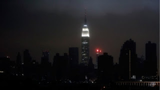 Super Storm Sandy blackout in New York City