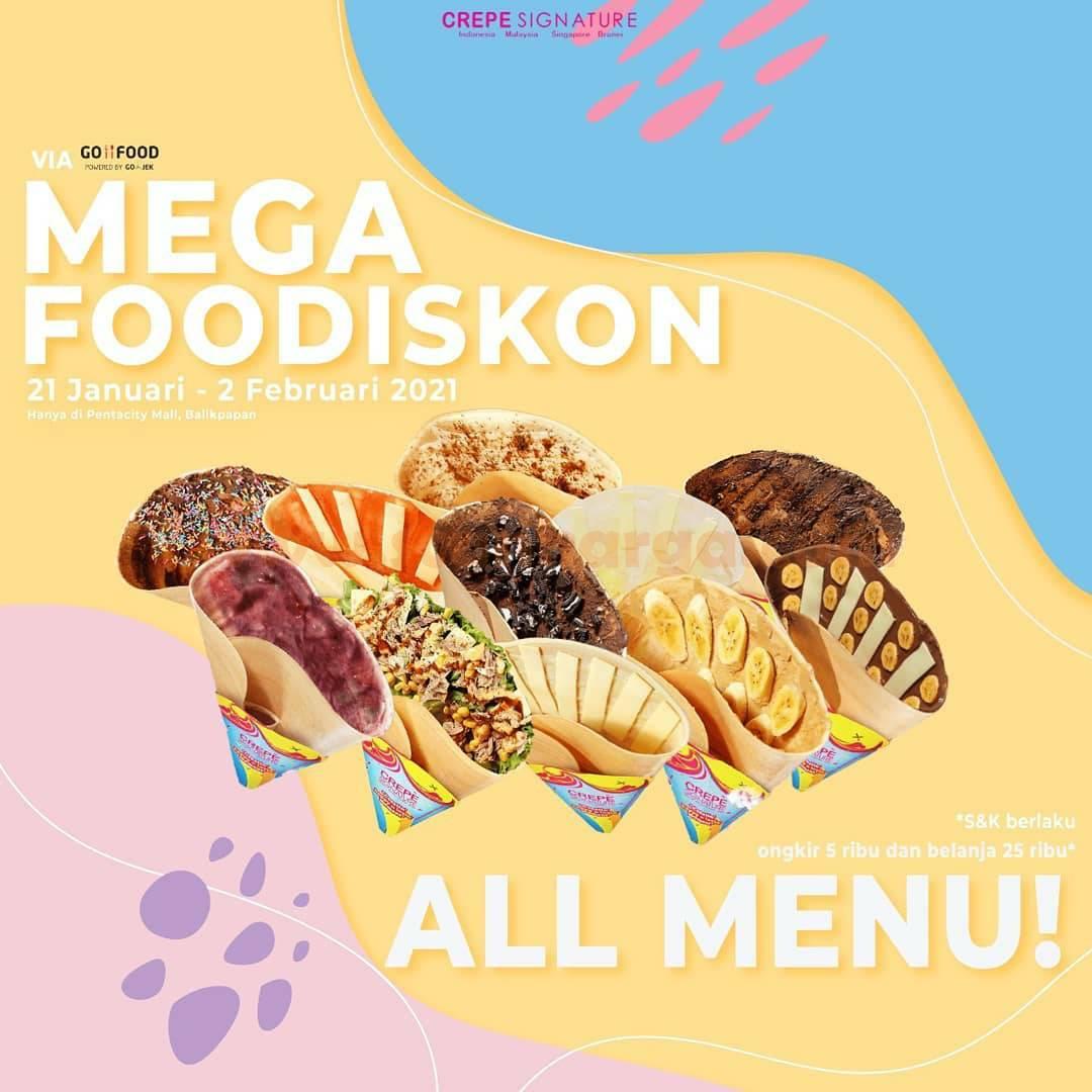 CREPE SIGNATURE Promo Mega Foodiskon All Menu via GOFOOD