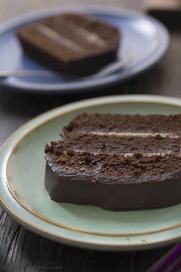 Cake de chocolate amargo