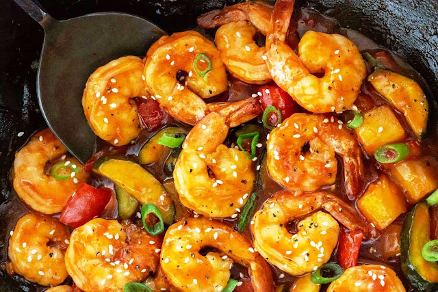 Sweet and Sour Chinese Shrimp - 1