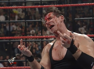 WWE / WWF St. Valentine's Day Massacre 1999 - IHY 27 - A bloody Vince McMahon flips off Steve Austin