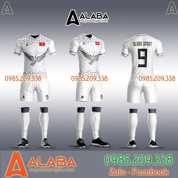 Áo đội tuyển Việt Nam trắng 2019 tự thiết kế độc