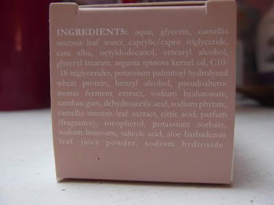 Nočný krém s bio zeleným čajom L´Orient Cosmetique Naturel zloženie