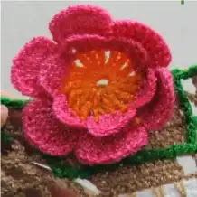 Puntilla Tacitas con Rosas a Crochet