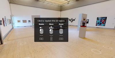 Skärmbild som visar hur 3D-utställningen ser ut.