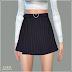 Heart Belt Mini Skirt_하트 벨트 미니스커트_여자 의상