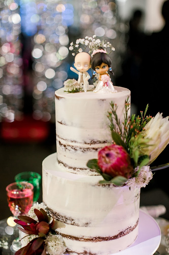 Silver Pearl Restaurant Wedding Reception Naked Cake