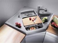 Fregadero de cocina para las esquinas