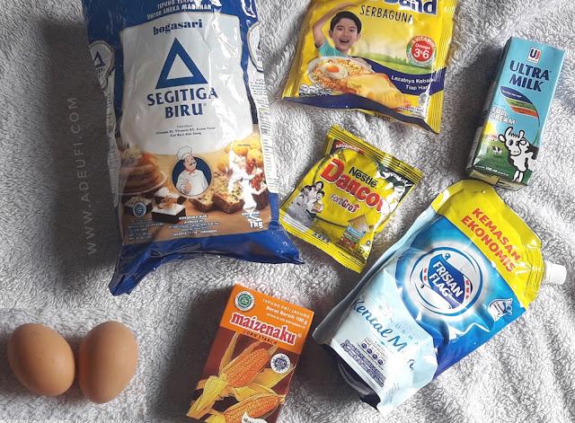 Bahan bahan Pie Susu Teflon