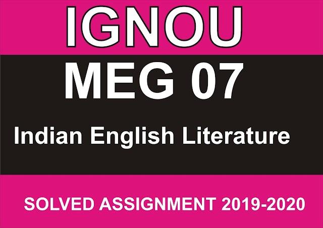 MEG 07 Solved Assignment 2020-21