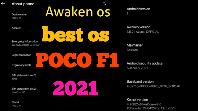 best custom rom for poco phone f1 & POCO F1 Awaken os in 2021