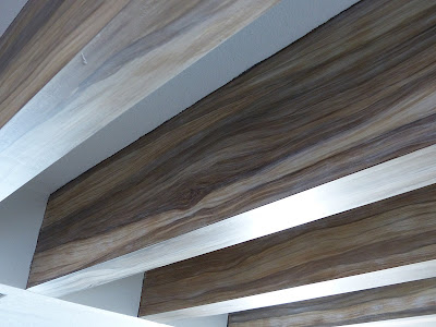 paint ceiling beams to look like wood
