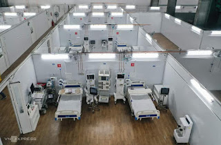 Trung tâm ICU 500 giường hoàn thành sau một tuần thiết lập