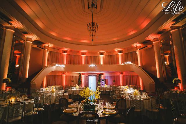 decoração casamento clube do comércio salão dos espelhos porto alegre simples e delicada