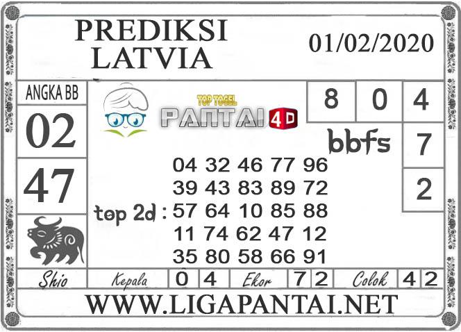 PREDIKSI TOGEL LATVIA PANTAI4D 01 FEBRUARI 2020