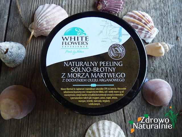 WHITE FLOWER'S  - Naturalny peeling solno-błotny z Morza Martwego