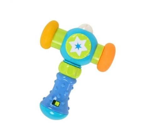 Ciocanelul vesel cu muzica si lumini Happy Hammer Blue