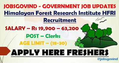 HFRI Recruitment 2021