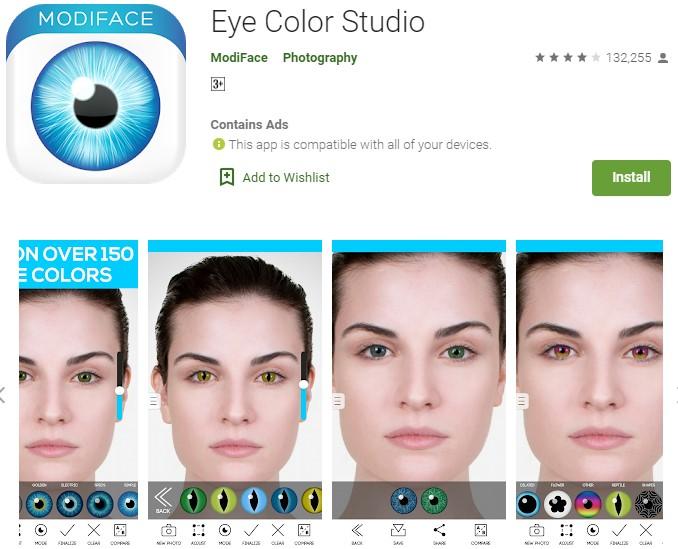 Aplikasi Pengubah bentuk Mata