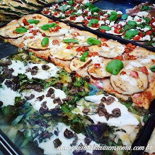 A melhor pizzeria quilo de Trastevere
