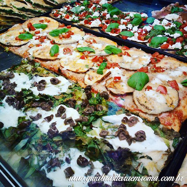 pizzas trastevere roma la boccaccia assadeira - A melhor pizzeria quilo de Trastevere
