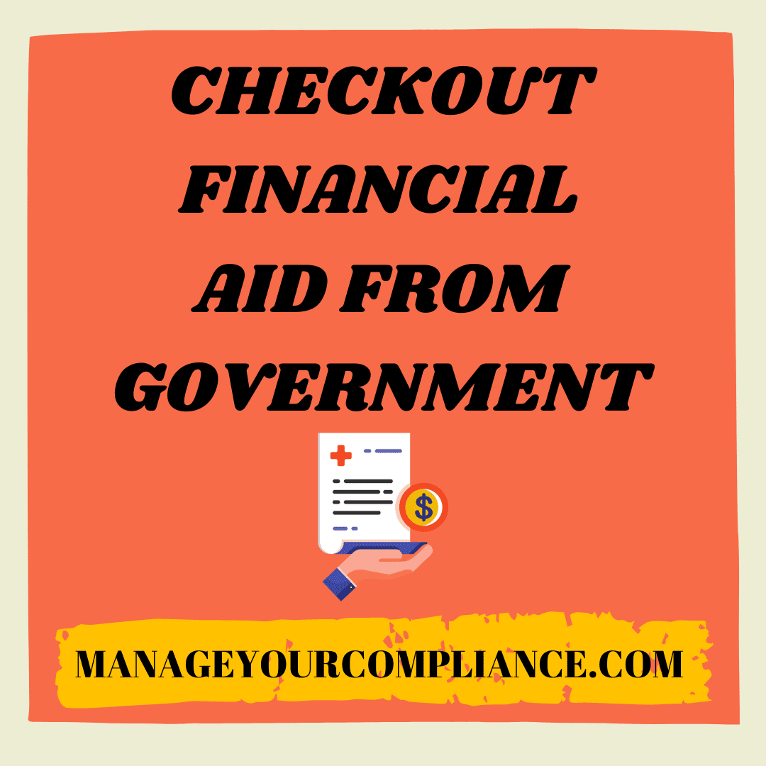 Checkout financial aid fro government