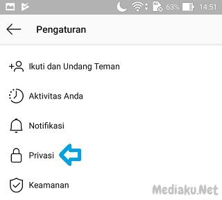 Menyembunyikan Status Story Instagram