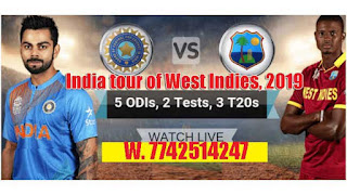 Who will win India tour of West Indies, 2019 1st ODI Match West Indies vs India