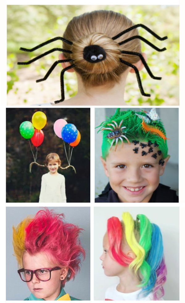 Be the coolest kid in school with these fun and creative crazy hair day ideas.  Easy & wacky hair tutorials for spirit week. #wackyhairday #wackyhair #crazyhairday #crazyhair #spiritweekideas #wackywednesday #spiritweek #crazyhairdayforboys #growingajeweledrose #activitiesforkids
