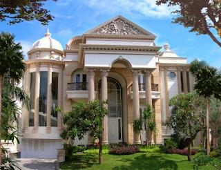 Kesan Mewah Pada Rumah Gaya Klasik 4