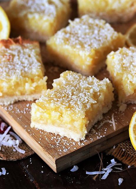 Cutting Lemon-Coconut Bars Image