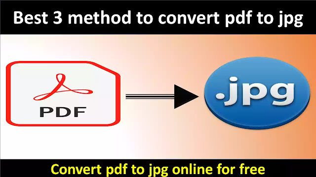 How To Convert PDF File To JPG Image Online Free
