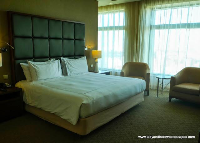 bedroom at Swissotel Al Ghurair Dubai